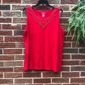 White Stag Red Medallion Tank Top Size 2XL